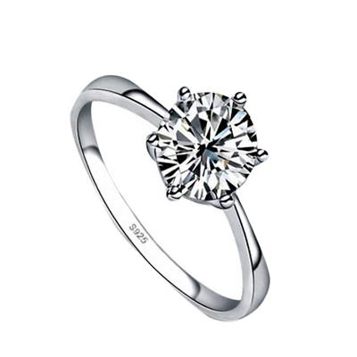 New Fashion 2017 High Imitation Silver Plated Ring Wedding Jewelry 4 Sizes For C