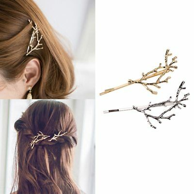 Vintage Gold Silver Tree Hair Clips Girls Alloy Branch Hairpins Fashion Hairgrip