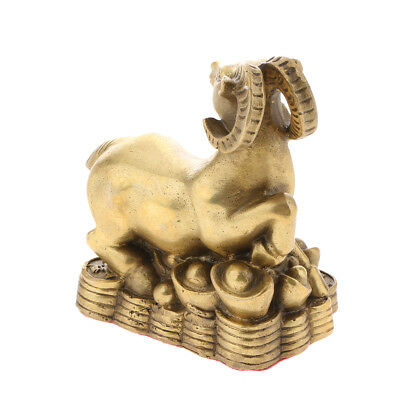 Zodiac Animal Goat Sculpture Chinese 12 Shengxiao Ornaments Home Fengshui