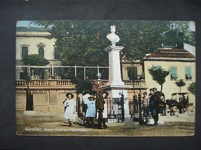Unused Colour Post Card Gibraltar, Queen Victoria's Monument