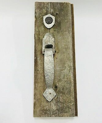 Antique Vintage  Thumb latch Door Handle Set Hand Forged Vtg Hardware