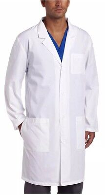 "Dickies Everyday Scrubs Unisex 40"" Lab Coat Size M NWT 83403 White"