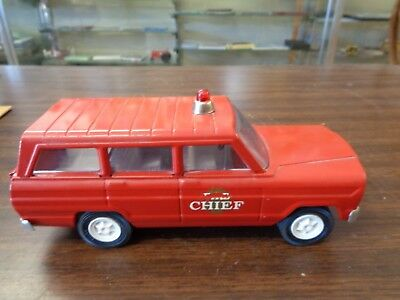 Vintage TONKA Fire Chief JEEP Vehicle Fire Rescue Toy Truck RED Plastic Metal