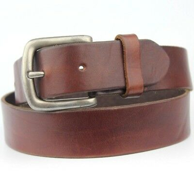"""Brown Real Leather Retro Vintage Belt Size To Fit 28-31"""" waist"""