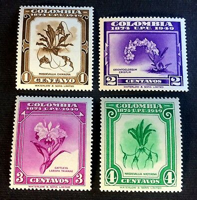 Colombia 1949 - 4 top old mint hinged stamps