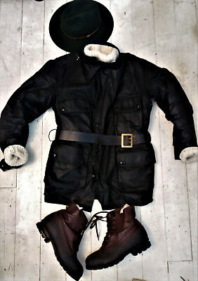 1970's waxed motorcycle jacket, classic kit for tough guys and dudes !Goodwood