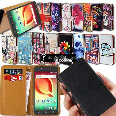 For Various Alcatel SmartPhones Leather Smart Stand Wallet Case Cover