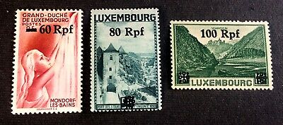 German Occupation of Luxembourg 1940 -  3 stamps - with Michel No. 30