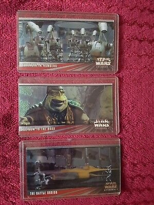 Star Wars Episode 1  - Promo cards 0 / 00 / 000  - all mint