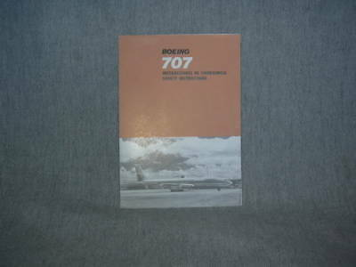 Avianca Colombia Boeing 707-300 Safety Card / Instruction