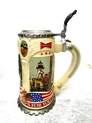 Working America  Budweiser  Lidded Stein  Limited Ed.   Handcrafted In Germany