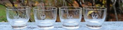 New Vintage Set Of 4 Of Jal (Japan Air Lines) 21/2  Ounce Liquor Glasses