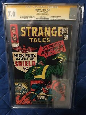 Strange Tales #135 (First SHIELD) CGC S.S. Graded 7.0 /Signed by Stan Lee
