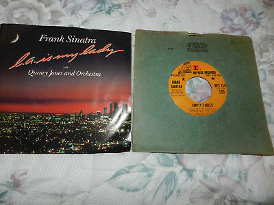 Frank Sinatra Lot Of2 45Rpm-Picture Sleeve La Is My Lady Promo Copy Empty Tables