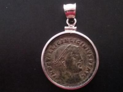 Licinius Large Genuine Ancient Imperial Roman Coin Sterling Pendant Sandy Patina