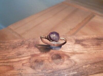 Gorgeous Medieval Ring with Amethyst Stone-British Detecting Find
