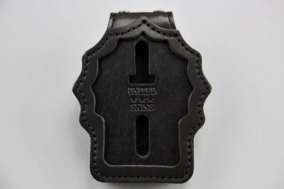 """Genuine Leather Police Badge Holder NYPD Detective Cut Out """"UNITED SKIN"""" Bran"""
