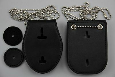 2 Badges Holders NYPD Los Ang Police US size with Belt clip and Ball chain