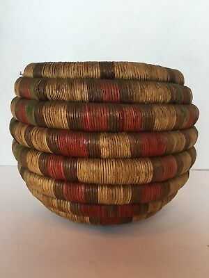 Early Hopi Indian Coiled Basket Bowl Second Mesa - 6.5 Tall,  Cody Museum