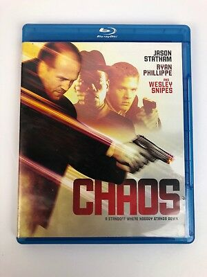 Chaos Blu-ray & Case Only (No DVD), Wesley Snipes, Ryan Phillippe, Jason Statham