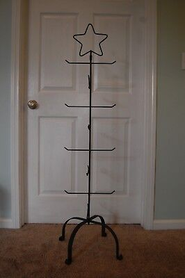 Amish Hand Made Star Wrought Iron Tree Hanger Stand For Longaberger Baskets