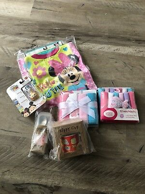 Luvable Friends, Sugar Booger and Disney bib, Silverware and washcloth set 😱