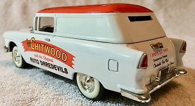 Joie Chitwood 1955 Chevy Panel Bank Diecast