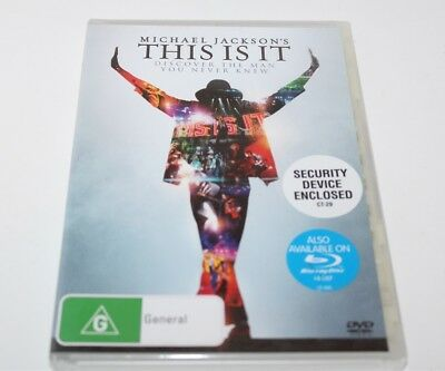 Michael Jackson This Is It DVD 2010 Brand New Sealed