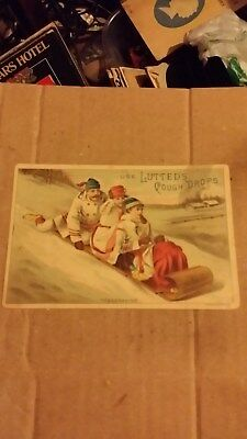 Antique 1800's Gies & Co. Buffalo NY Use Lutted's Cough Drops Trade Card