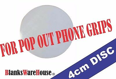 """1.57"""" ( 4 cm ) Sublimation Circle Blanks  Perfect for  PHONE GRIPS - Lot of 25"""