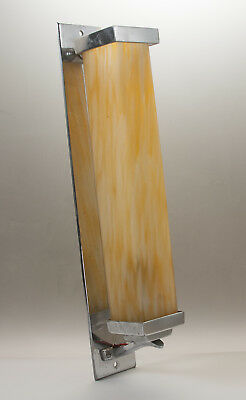 Original Chrome and marbled glass Art Deco Wall lamp - vintage 1930's era light