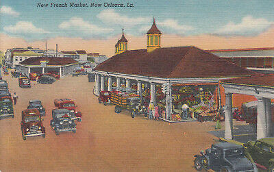 New Orleans, Louisiana Vintage Postcard - New French Market