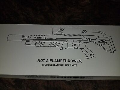 The Boring Company Not a Flamethrower -- NEW IN BOX, UNUSED, COLLECTOR QUALITY