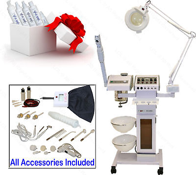 11 in 1 Facial Machine Ozone Steamer Towel Warmer Cabinet Spa equipment Facial