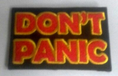 Don't Panic Patches Embroidered Applique Badge Iron Sew On