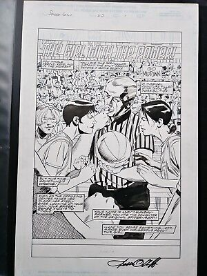 SPIDER-GIRL 23 PG 1 SPLASH by Olliffe ORIGINAL COMIC ART FREE COMBINED SHIPPING