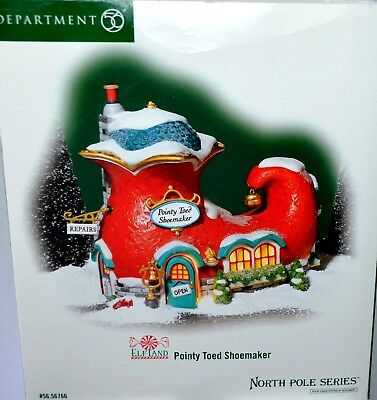 Dept 56 POINTY TOED SHOEMAKER, North Pole Series, EXC COND!