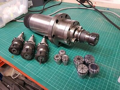 BT30 Spindle Set 6000RPM with 4 ER25 tool holders mounting plate and spanner