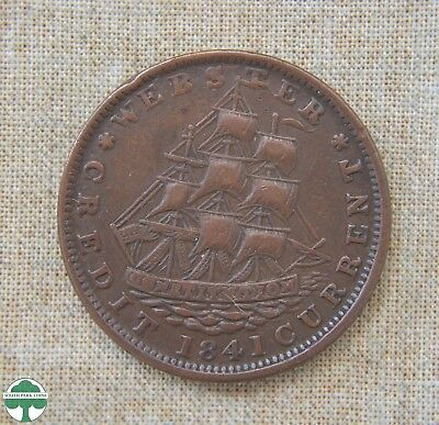 1841 Hard Times Token - Fine Details - Millions For Defence - Collectible