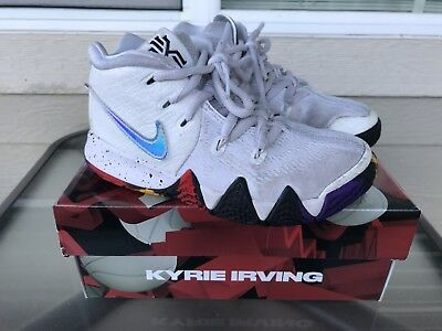 f108bf39ab64 Nike Kyrie 4 Preschool Boys Basketball Shoes Size 11c White Multicolor  Sneakers