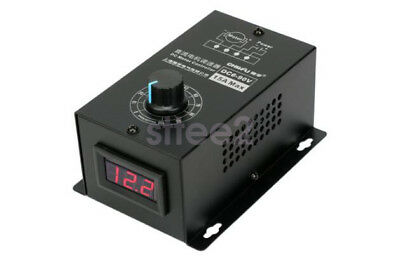 New DC 15A Motor Speed Governor 6-90V PWM Digital Controller Switch LED Display