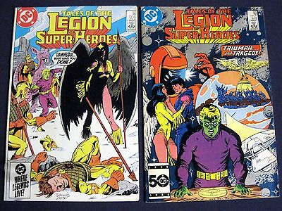 TALES OF THE LEGION OF SUPER-HEROES Lot of 2 # 322 & 323