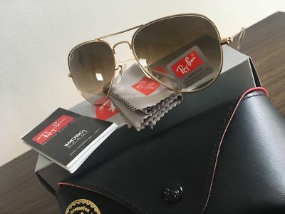 Ray-Ban Sunglasses Aviator RB3025 001/51 Gold Frame Brown Gradient 58mm