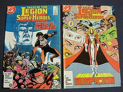 TALES OF THE LEGION OF SUPER-HEROES Lot of 2 # 338 & 349