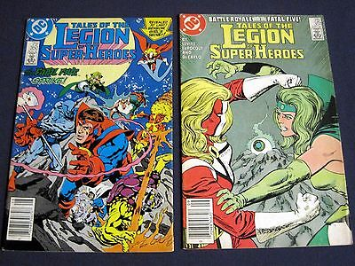 TALES OF THE LEGION OF SUPER-HEROES Lot of 2 # 350 & 351