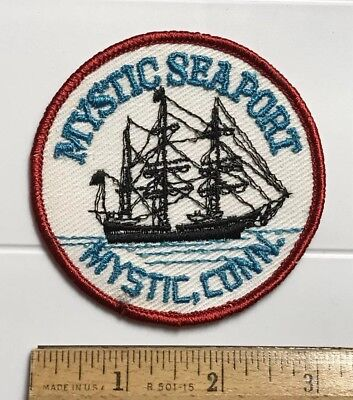 Mystic Seaport Connecticut CT Tall Ship Round Embroidered Round Patch