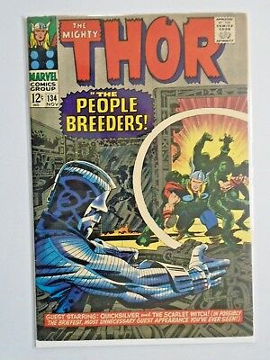 Thor #134 - First 1st Series - see pics - 5.0 - 1966