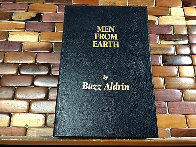 Buzz Aldrin Men From Earth *SIGNED* Limited Number Edition Book Leather NEW!!