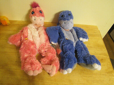 build a bear unstuffed pink and blue dinosaur and heart 16''