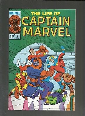 The Life of Captain Marvel #4 VF/NM (1985, Marvel) Thanos, COMBINE SHIPPING